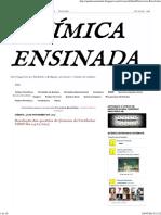 QUÍMICA ENSINADA_ Exercícios Resolvidos