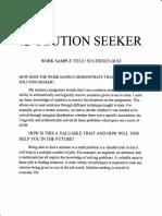 solution seeker work sample