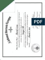 debate certificate