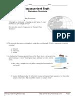 inconvenient truth worksheet