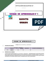Unidad de Aprendizaje 5 y 6 Grado de Ed Primaria Marzo 2016