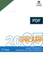 Vestibular UNICAMP 2005 - Língua Portuguesa