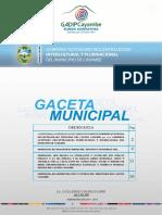Ordenanza administración y Control Del Territorio Cantón Cayambe