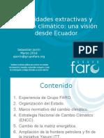 Actividades Extractivas y cambio climático Grupo Faro