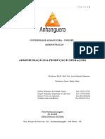 ATPS Administração Da Produção e Operações