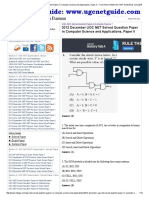 2012 December UGC NET Solved Question Paper in Computer Science and Applications, Paper II - Free Online CBSE UGC NET Guide Book June 2015