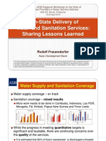 Non-State Delivery of Water and Sanitation Services