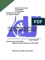 Curriculum Organizado en Competencias