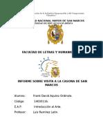 Informe de Visita a La Casona
