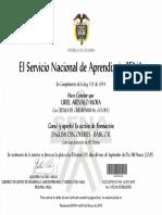 Certificado Del SENA Inglés