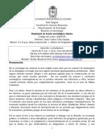 Programa Teorías Sociológicas Clásicas - Juan Carlos Celis Ospina 2016-1
