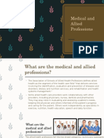 Medical and Allied Professions