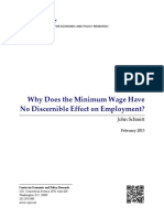 why does the min  wage have no effect on employment