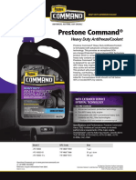 Prestone Command AFC Extended Serv Concentrate Data Sheet