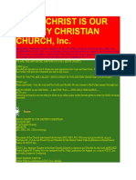 Jesus Christ is Our Destiny Christian Church