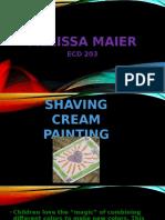 shaving cream paint