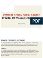 Venture Design Crash Course