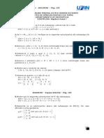 4ª Lista de Algebra Linear I
