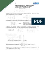 3ª Lista de Algebra Linear Aplicada
