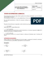 Division Salesiano Algebra
