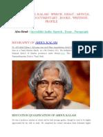 DR A.P.J. ABDUL KALAM