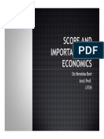 2)Scope and Importance of Economics