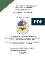 """Tesis_evaluación y Aplicación Del Método Eor """"Proceso de Inyeccion de Co2""""Al Campo Humberto Suarez Roca"""