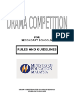Drama rules and regulations