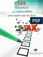 155 Essential Tax Deductibles You Must Use in 2016