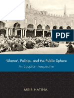 (Utah Series in Turkish and Islamic Stud) Meir Hatina-'Ulama', Politics, And the Public Sphere_ an Egyptian Perspective -University of Utah Press (2010)
