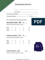 Shirt Order Form 1