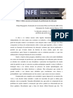 Etica e Valores Morais Na Formacao de Profissionais Da Educacao