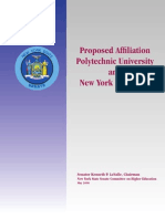 LaValle report on Polytechnic University and NYU