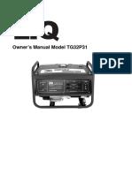 Etg TG32P31 Generator Op Manual