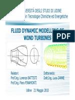 FLUID DYNAMIC MODELLING OF WIND TURBINES