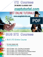 BUS 372 Academic Success /Snaptutorial