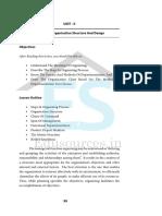 Organization Structure and Design