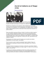 Breve Historia de La Guitarra en El Tango Por Anibal Arias