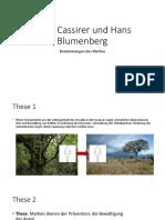 Ernst Cassirer Und Hans Blumenberg