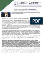 Financial Reform – Communications Snafu