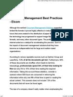 Document Management Best Practices - Elcom
