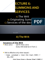 Writ, OS & Services