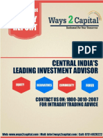 Equity Research Report Ways2Capital 04 April 2016
