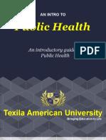 Public health certificate programs