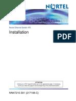 NN47210-301 Switch User Manual