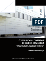 1st Internatrional Conference on Business Management
