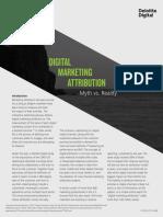 Digital Marketing Attribution - Myth vs. Reality