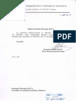 Adresarea către Președintele RM