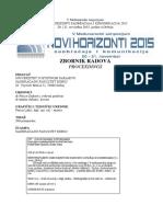 Zbornik Radova Novi Horizonti 2015