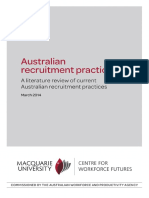 Australian Recruitment Practices Report